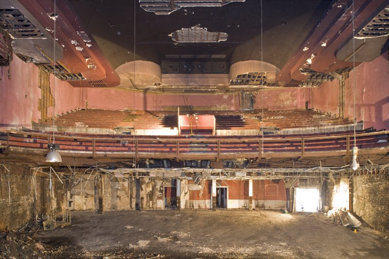 Interior view of auditorium from NE showing gallery, Olympia Theatre, Glasgow.
