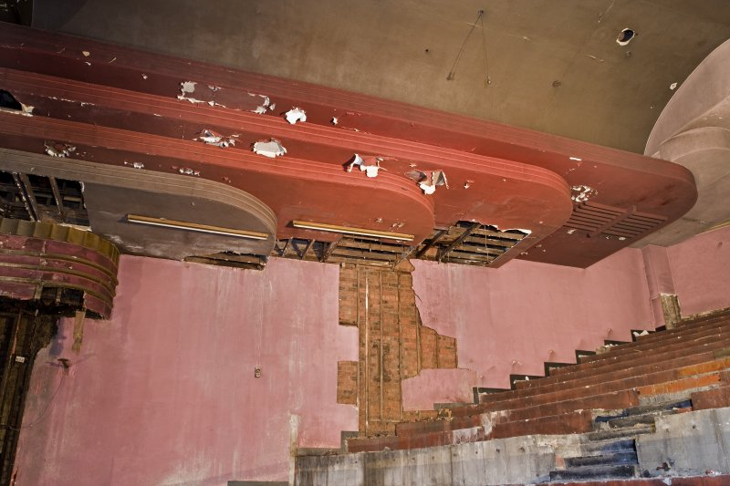 Interior. Auditorium. Decorative scheme remains. Detail