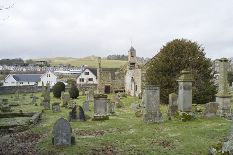 General view from E showing part of burial ground.