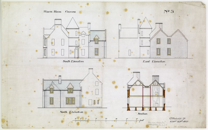 Section and elevations.