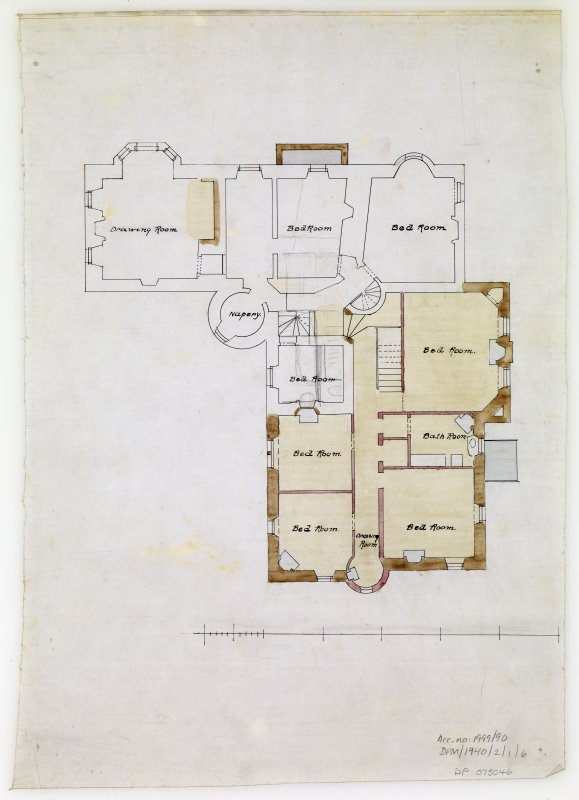 Plan of upper floor.