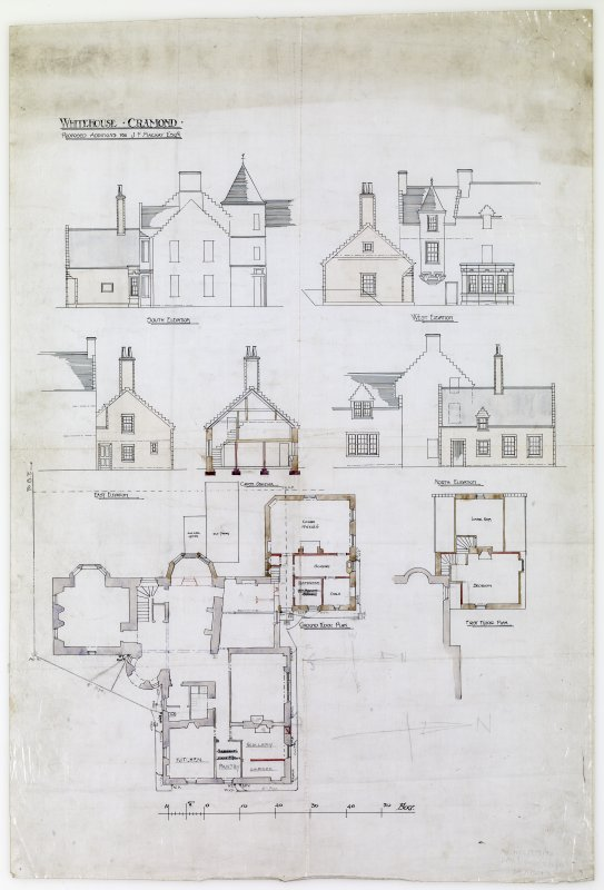 Plans, sections and elevations showing proposed additions.