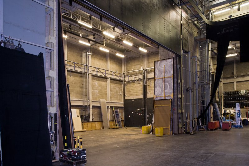 Interior. Stage and scene dock area from SE
