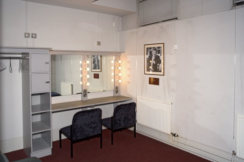 Interior. Backstage, Conductor's dressing room