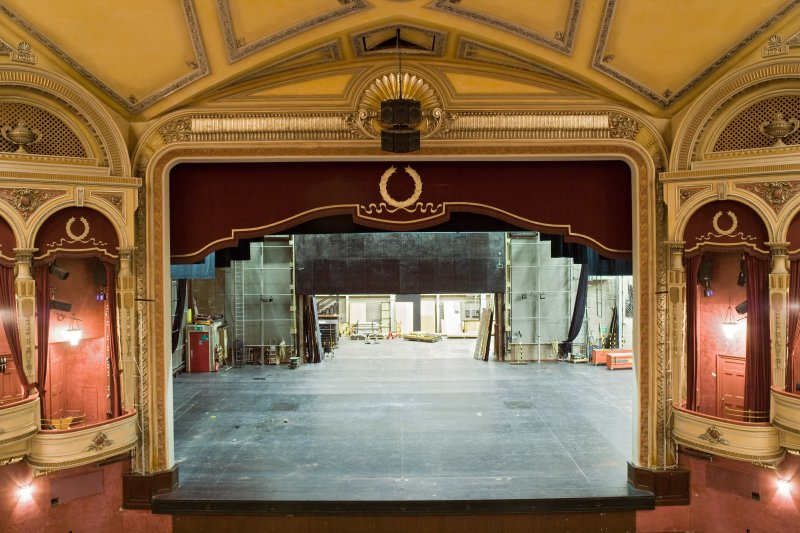Interior. Stage and proscenium arch from Circle (E)