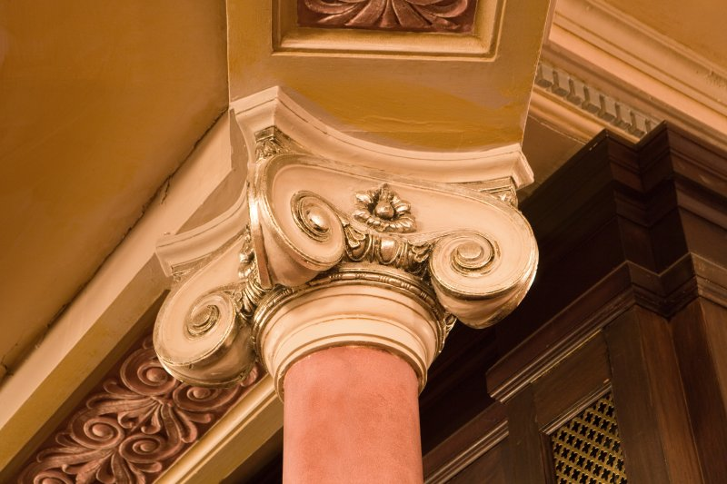 Interior. Auditorium, Grand Circle, detail of column capital