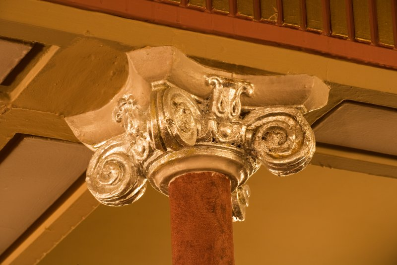 Interior. Auditorium, Upper Circle, detail of column capital