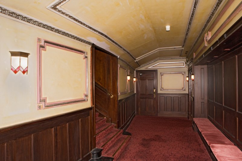 Interior. 1st floor, Matcham lobby, view from S