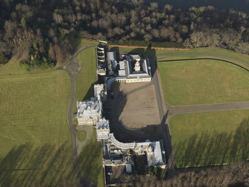 General oblique aerial view centred on Hopetoun House, taken from the S.