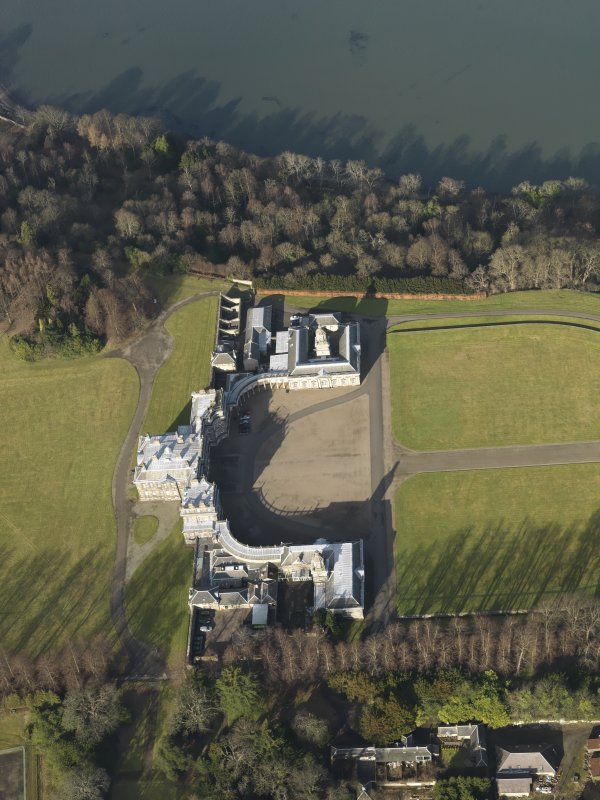 General oblique aerial view centred on Hopetoun House, taken from the SSE.