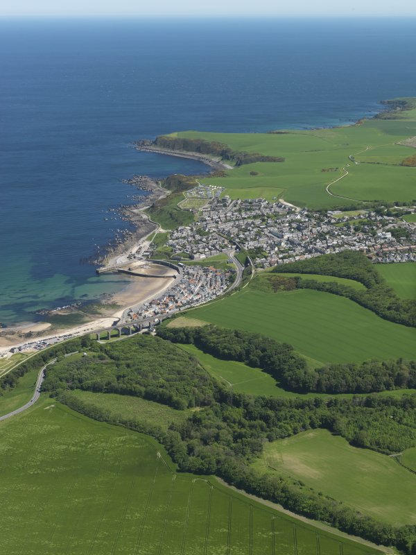 General oblique aerial view centred on the town of Cullen, taken from the WSW.