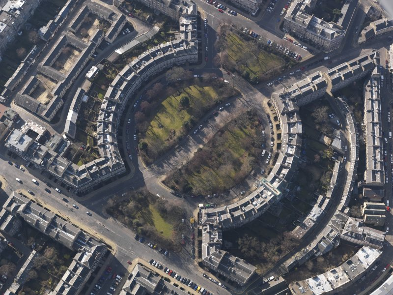 Oblique aerial view centred on the Circus, taken from the NE.