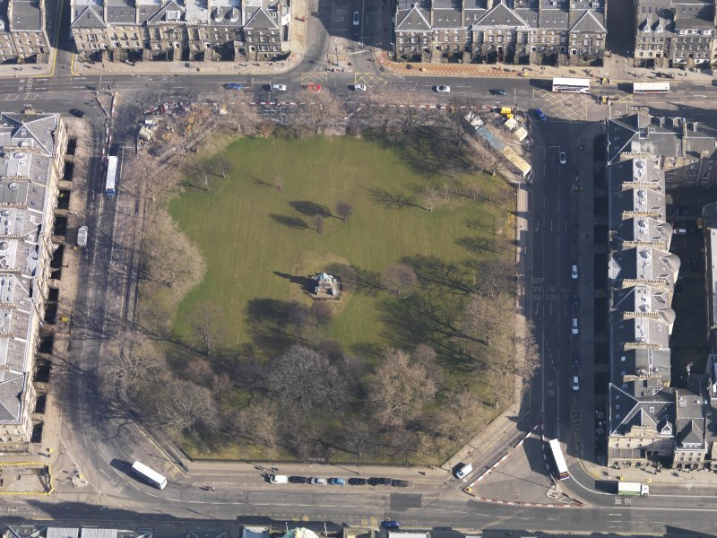 Oblique aerial view centred on the Square, taken from the WSW.