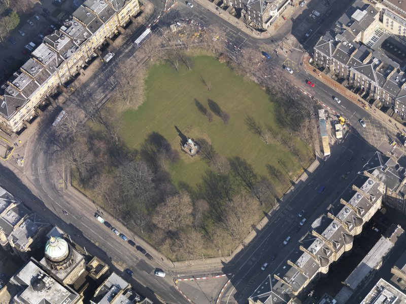 Oblique aerial view centred on the Square, taken from the SW.