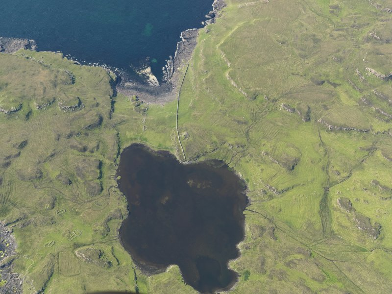 Oblique aerial view centred on Loch na h-Airde, taken from the SSE.