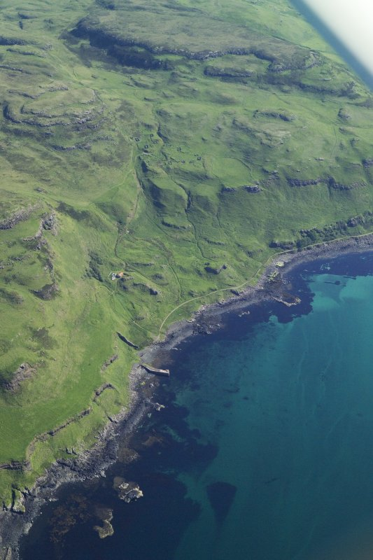 General oblique aerial view of the coast of Mull at Calgary, taken from the WSW.
