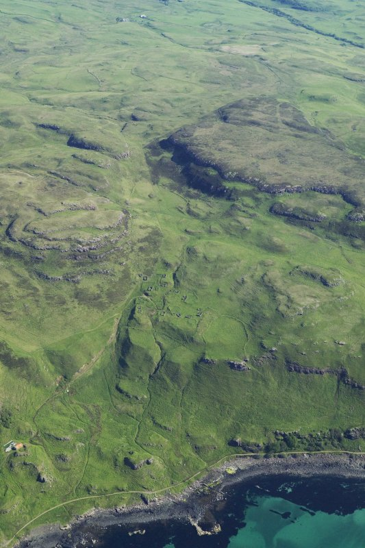 General oblique aerial view of the coast of Mull at Calgary, taken from the S.