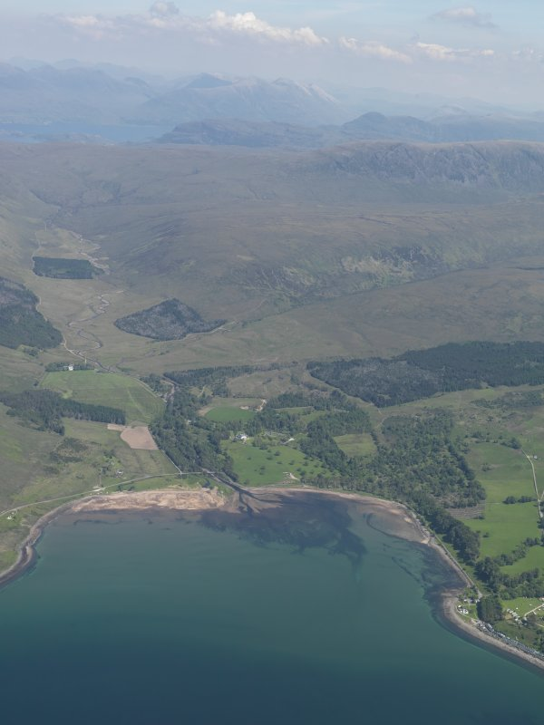General oblique aerial view of Applecross Bay, taken from the SW.