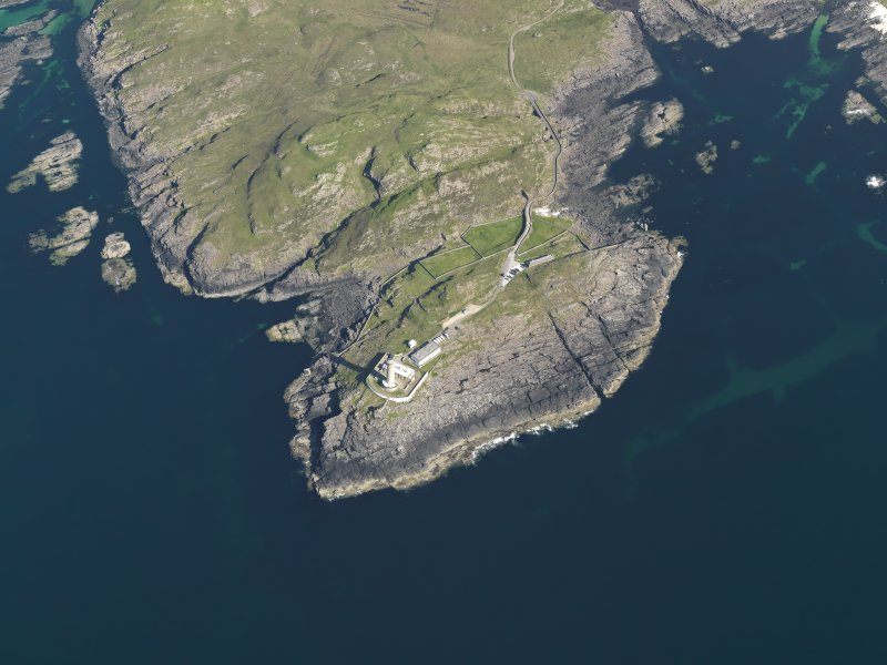 Oblique aerial view of the Point of Ardnamurchan and the Ardnamurchan lighthouse, taken from the WNW.