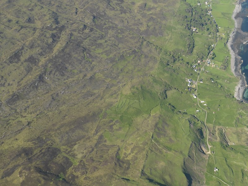 General oblique aerial view of the township of Ormsaigbeg, taken from the SW.