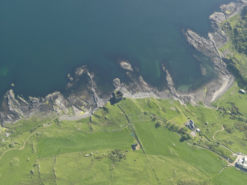 Oblique aerial view of Mingary Castle, taken from the NE.
