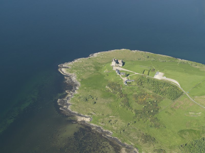 General oblique aerial view of Duart Castle, taken from the WSW.