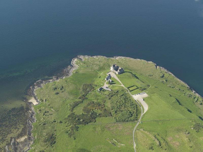 General oblique aerial view of Duart Castle, taken from the SW.