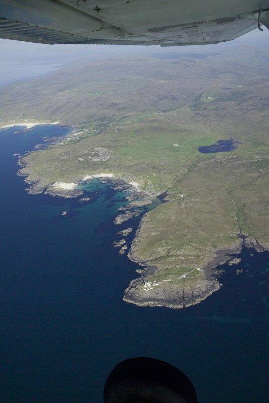 General oblique aerial view of Ardnamurchan lighthouse, taken from the W.