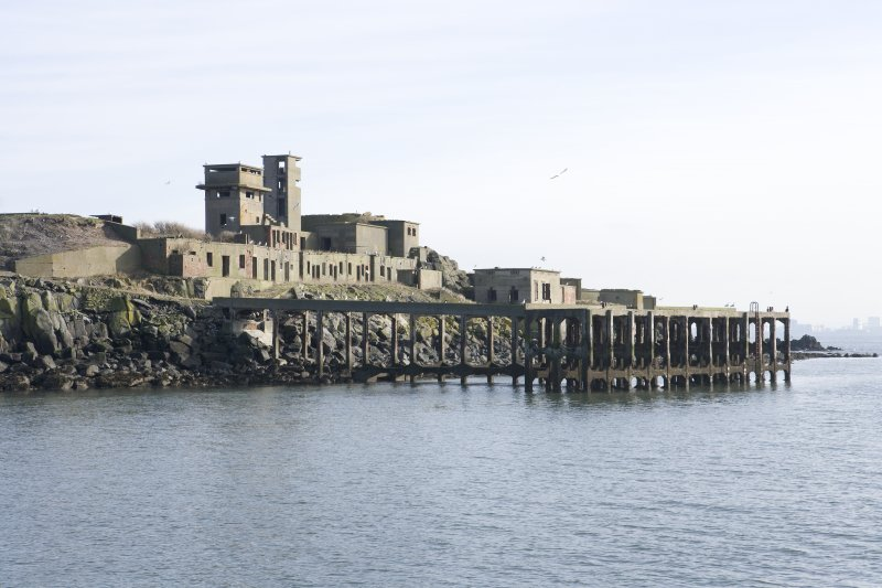 View from NW of pier and W side of island.