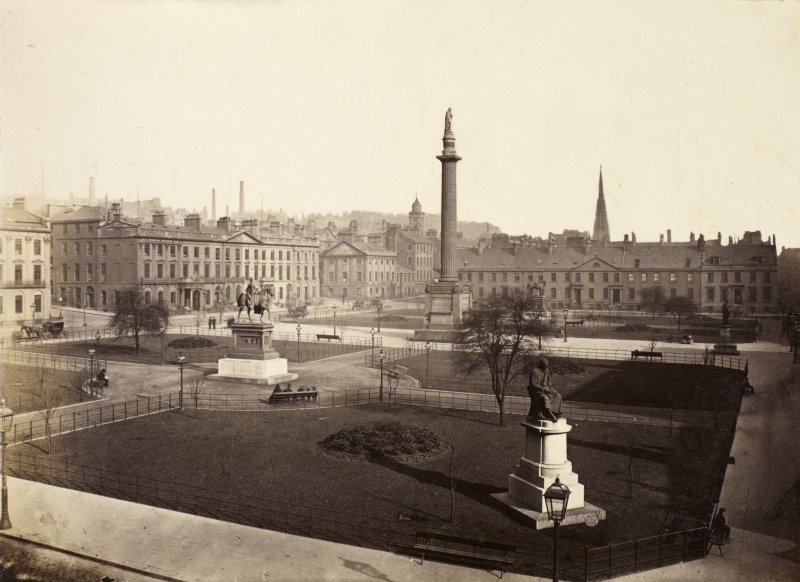 Page 18/3 View of George Square, Glasgow, including Scott Monument Titled 'Before 1883  George Square .'