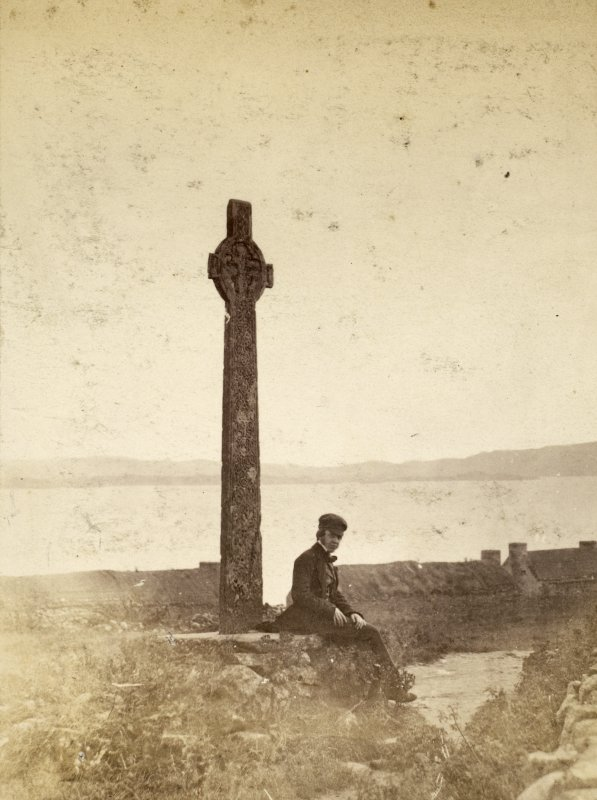 Page 27/1 View of MacLean's Cross, Iona Titled 'MacLean's Cross, Iona.' PHOTOGRAPH ALBUM No.146: THE THOMAS ANNAN ALBUM