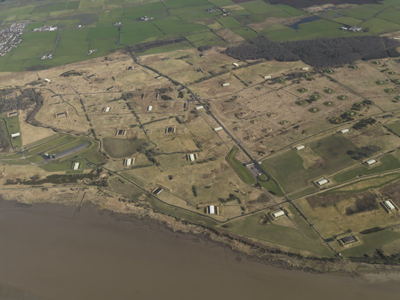 Oblique aerial view centred on part of the explosives works, taken from the SSW.