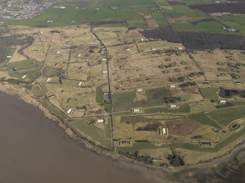 Oblique aerial view centred on part of the explosives works, taken from the S.