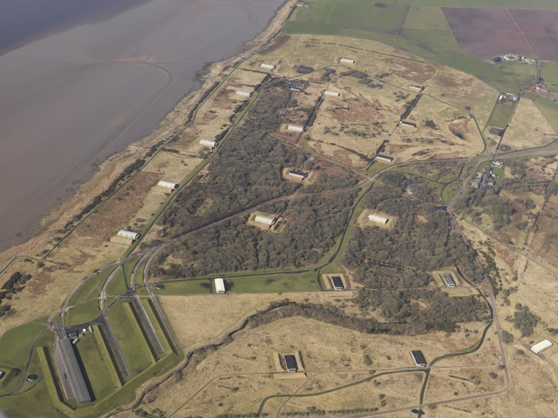 Oblique aerial view centred on part of the explosives factory, taken from the NE.