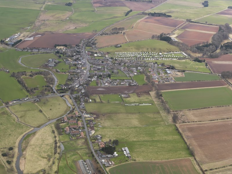 General oblique aerial view centred on the village, taken from the ENE.