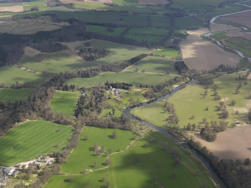 General oblique aerial view centred on thecountry house, taken from the W.