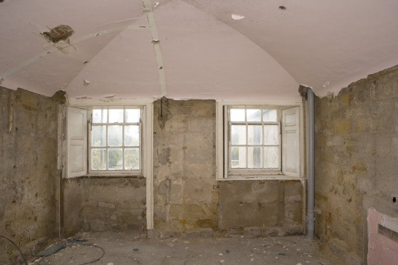 Interior. Ground floor, vaulted room to SE of entrance hall, view from W
