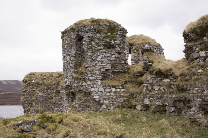 NE turret, view from NW
