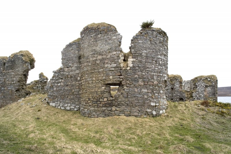 NE turret and Great Hall, view from NE