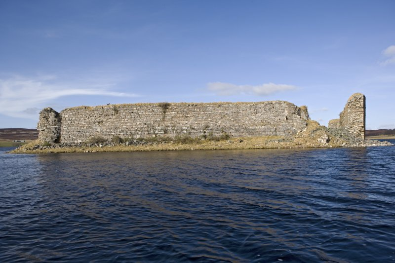 S wall, view from loch to S