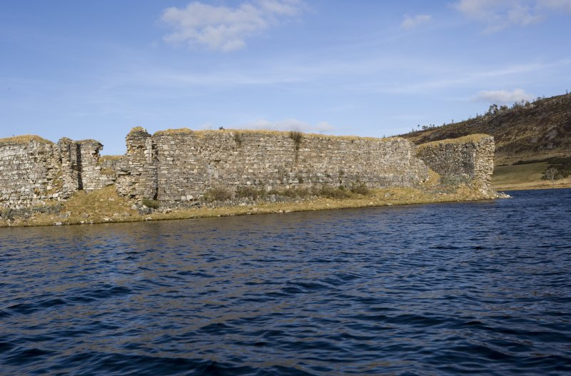 S wall, view from loch to SW