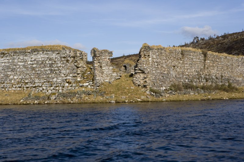 SW turret, view from loch to SW