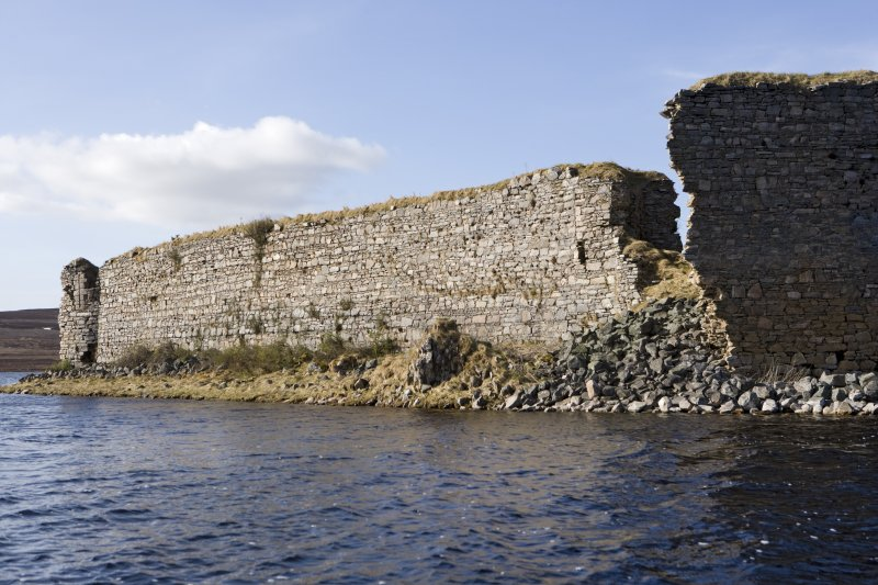 S wall, view from loch to ESE
