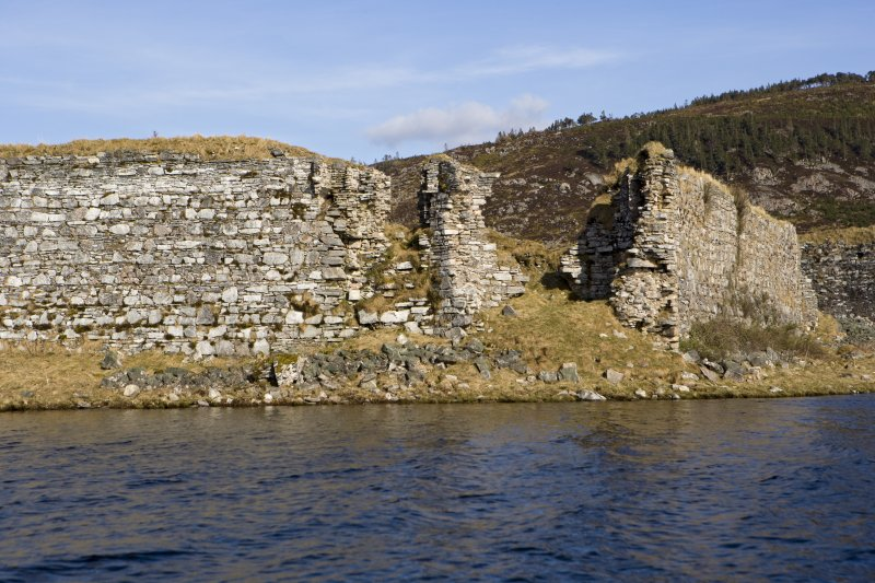 SW turret, view from loch to WSW