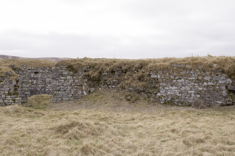 S wall, view from centre of courtyard (panorama image 15)