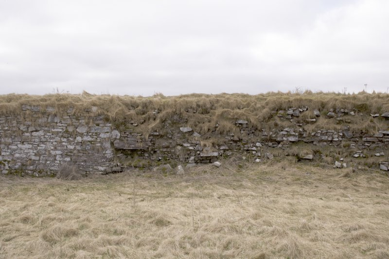 S wall, view from centre of courtyard (panorama image 18)