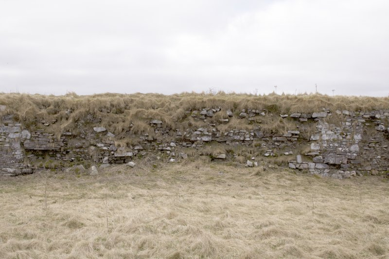 S wall, view from centre of courtyard (panorama image 19)