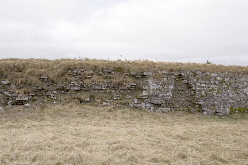 S wall, view from centre of courtyard (panorama image 20)