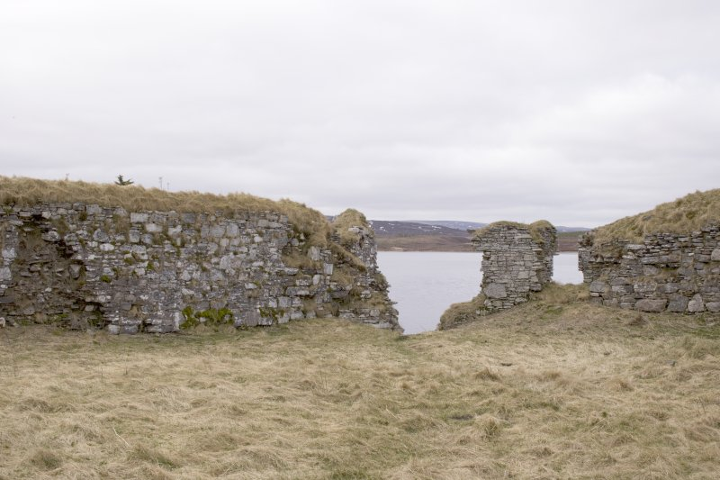 SW turret, view from centre of courtyard (panorama image 23)