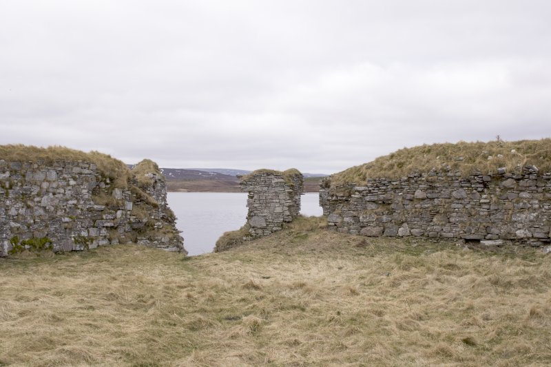 SW turret, view from centre of courtyard (panorama image 24)